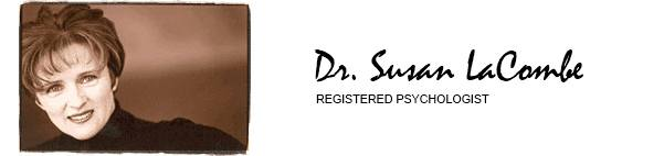 Logo for registered psychologist and photo of Dr. LaCombe